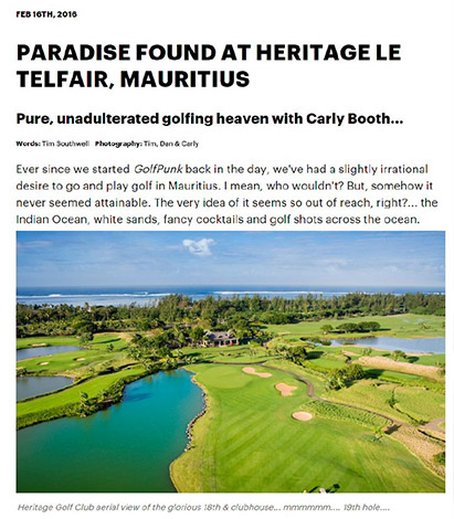 Paradise found at Heritage le Telfair, Mauritius - Golf Punk